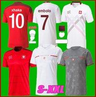 2021 Suíça Futebol Jerseys Home 2122 Seferovic Xhaha Elvedi Akanji Rodriguez Zakaria Embolo Behrami Shaqiri Camisas de futebol