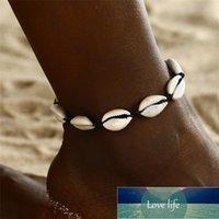 Bohemian Plusieurs couches Starfish Turtle Perles Anklets pour Femmes Vintage Boho Shell Chain Chaîne Ankièche Bracelet Bijoux Bijoux B35