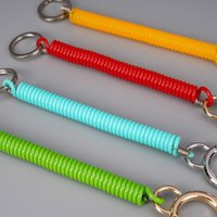 Keychain Bule Spring Rope Color Telephone Line Old Man Anti Loss Hand Plastic