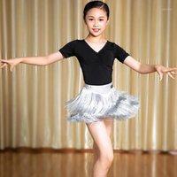 2020 латиноамериканские платье для бахрома Детские кисточки юбки девочек производительность одежда практика наряды бальные сальса Salsa Sunba танцевальная одежда JL10171
