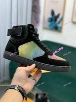 2021 Diseñador de lujo popular Rivoli Kids Sneaker Boot Boot Rainbow Trainer para hombres y mujeres High Top Sneakers Flower Motifs Vintage Trainers