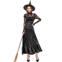 Halloween Frauen Sexy Lace Evil Dark Hexe Kostüm Cosplay Fantasie Fancy Kleid Hexe Kostüm