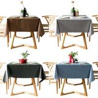 PVC 방수 식탁보 솔리드 컬러 커버 직사각형 항 / 오일 천 카펫 웨이브 레이스 식당 210626