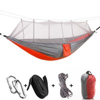 Outdoor Games & Activities 260x140cm Hammock With Mosquito-net Hanging Bed Family Friends Camping Hiking Hammocks