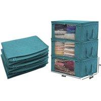 퀼트 스토리지 박스 가방 접이식 먼지 습기 증거 옷 가방 2 색 가정 주최자 바구니 고품질 지퍼 HHD7303