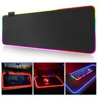 RGB Gaming Mauspad Große Mauspad Gamer Große Maus Matte Computer Mousepad LED Hintergrundbeleuchtung Oberfläche Mause Pad Tastatur Schreibtisch Matte Neu