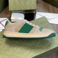 الرجال والنساء الأحذية عارضة الأزرق الأحمر الأخضر شبكة مصمم العلامة التجارية الإيطالية الرجعية منشفة أفخم الفاخرة الكلاسيكية الرياضية في الهواء الطلق منصة التدريب الجلد القذرة 35-45
