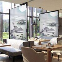 레스토랑 정적 유리 스티커 중국어 창 장식 라이트 불투명 한 창 종이 유리 붙여 넣기 매트 용지 필름