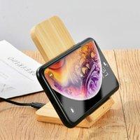 Cargador inalámbrico de madera 10W Qi Induction Stand Stand de carga rápida para Samsung S20