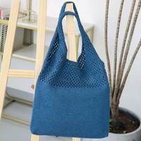 Сумки на ремне yoreai повседневная полые тканые женщины дизайнер вязание сумки большая емкость тотальная летняя пляжная сумка большой покупатель