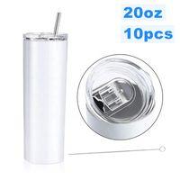 3 teile / satz dünne tumbler becher bunte edelstahl vakuum isoliert gerade dünne bär kaffee wasser tassen flasche straws cups fy4128