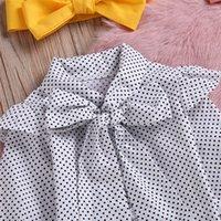 3 adet Toddler Bebek Bebek Kız Nokta Baskı Tops T Gömlek Kayışı Etek Kıyafetler Set Dropshipping Bebek Giysileri 420 Y2