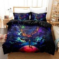 Conjuntos de cama Cool Universo Planet 3D Set Cama de Roupa de Roupa de Rouvete Capa Home Têxteis Têxteis Decoração Twin Single Rainha King Size Gift Luxo