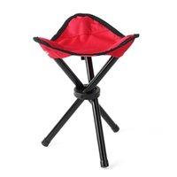 Pesca Tripé Cadeira dobrável Banquinho Ao Ar Livre Camping Dobrável Mate Portátil Ultralight 3 Cores Acessórios