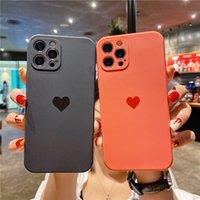 Amore Cuore Telefono Custodie per iPhone 12 11 Pro Max XS XR 7 8 Plus Protezione fotocamera Soft TPU Cover posteriore