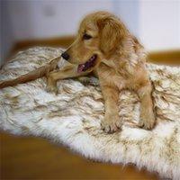 Tyteps FAUX Pelliccia Pelliccia Ortopedica Curva Dog Curve Tappeto per cani Bianco per Big Medium Piccoli Pubblici PUPPYS Supporto Dropinging Shipping 1819 V2