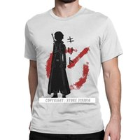 CCCCSPortMaster Kılıçcı Kirito Kılıç Sanatı Online T-shirt Erkekler Kirito Anime Manga Yuuki Oyunu Sao Pamuk Tee Gömlek Camisa T Gömlek