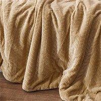 Manta de cachemira de lujo Invierno espeso doble capa Sherpa Tirar 150x200cm Cálido cómodo Flanela ponderada Fleece Manta 201113 771 R2