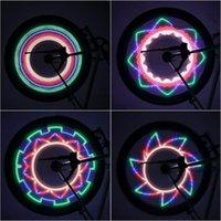 Боковой светодиодный 32 режим велосипедов выступил предупреждает легкое водонепроницаемое велосипедное колесо сигнальная лампа со светоотражающим ободкой радуга шины фиксированные огни