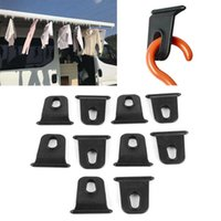 Parts 10X Universal White RV Awning Hook Hanging Clothes Party Light Holder For Caravan Camper Outdoor Camping Survival Hiking Travel