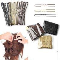 50 pcs mulheres 6cm cabelo acenou em forma de U-shaped Bobby Pin Barrette Salon Grip Grip Hairpins Preto Metal Acessórios para Bun H0916