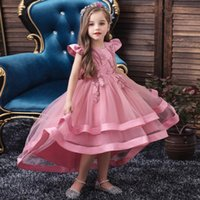 Children Flower Girl Dresses Wedding Birthday Party High Quality Girls Kids Lace Princess Tutu Dress