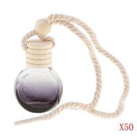 Car Air Freshener 50Pcs 10ml Empty Perfume Bottle Pendant Hanging Ornament Home Decor Round For Office