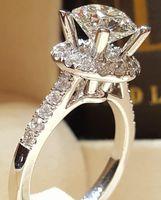 Anéis de casamento 2021 Luxo 925 Anel de noivado de prata esterlina para mulheres senhora aniversário presente jóias por atacado moonso r5469