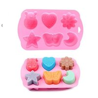 Silicone cake Baking Moulds Mold with rabbit pig insect chocolate jelly Pan Tray Silicon Muffin Cases Cupcake Nonstick Liner NHB6873