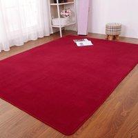 Carpets Arrival Fluffy Rugs Anti-Skid Shaggy Area Multi-size Living Room Home Bedroom Carpet Thick Coral Short Velvet Floor Mat