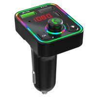 F3 Bluetooth Car Kit USB Type-C Зарядное устройство FM-передатчик TF MP3-плеер с RGB LED Backlight Wireless FM Radio Adapter Hands бесплатно для телефона