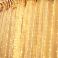 Рождественские украшения 3 * 3 м 300 огней USB дистанционного управления занавесных строк Светодиодная комната Медная проволочная лампа фонарь декоративная светлая строка