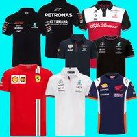 سباق جاكيتات ارتداء أعلى جودة F1 فورمولا واحد دعوى واحدة فريق فريق شعار مصنع موحدة بولو قصيرة الأكمام تي شيرت الرجال يمكن تخصيص 2021