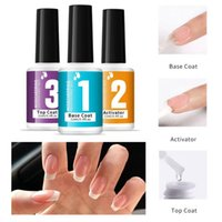 Top Coat Base Nail Polish Gel UV Transparent Varnishes Manicure Soak Off Lacquer Primer TSLM1