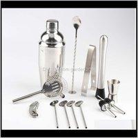 Инструменты Bartender Kit 14 Шт. Инструмент Bar со стильным бамбуком Стенд идеальный дом Бармен и Martini Cocktail Shaker Set 750ML Mztyn ZGMAI