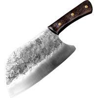 Chun traditionnel à la main forgé couteau de cuisine marteau marteau en acier inoxydable chopper couteaux couteaux de cuisson en bois boucher de boucherie