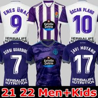 21 22 Real Valladolid Футбол Джетки Феда S. Sergi Guardiola óscar Plano CamiSetas de Fútbol 2021 2022 Взрослый Kids Kit Футбольные рубашки