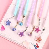 Gel Pens 32 Pcs lot Star Wind Chime Pendant Ink Pen Promotional Gift Stationery School & Office Supply Birthday