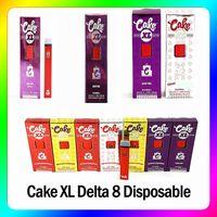 Cake XL Delta 8 Disposable E cigarettes Device full gram (1ml) Capacity Empty pod Rechargable Vape Pen 280mAh Battery For thick oil Flum
