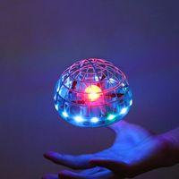 2021 Spinner Bal UFO Boomerang Stijgende Vliegende Mini بدون طيار LED اليد إيماءة التحكم هدية speelgoed فور كيد