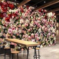 Custom 3D Mural Romantic Rose Flower Photo Wallpaper Living Room Wedding House Background Painting Waterproof