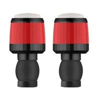 PCS MANILA DE BICICLETE LED LED BICICLETA MANO A LA MANERA DE MANO DE MANO EN FINAL CAP Tapa blinkers Gire la señal Luces de seguridad Advertencia de seguridad Equitación inteligente