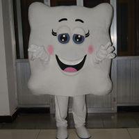 Fato de mascote branco de Halloween travesseiro de alta qualidade dos desenhos animados anime caráter caráter Natal carnaval festa trajes