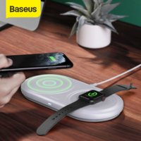 Baseus Fast Wireless Charger Pad For Apple Watch 5 4 3 10W Qi Wireless Charging For Airpods Pro Removable Wireless Phone Charger