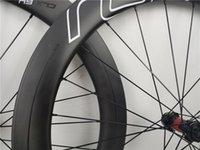 고품질의 탄소 바퀴 디스크 브레이크 클록 64 화이트 로고 700C UD 클린 커 튜브리스 휠셋 빠른 배달