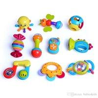 아기 장난감 동물 손으로 벨소리 아기 딸랑이 반지 벨 장난감 신생아 유아 조기 교육 인형 선물 Brinquedos 0-12 개월