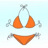 Women's Swimwear Focus Brand Orange Bikini Set Luxury Swimsuit Women Triangle Bikinis Designer Push Up Bathing Suits Beach XL