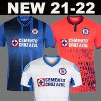 21 22 maillot de foot Cruz Azul RIVERO ALVARADO RODRIGUEZ ROMO 9 étoiles 2021 2022 domicile extérieur troisième maillots football rouge 9ème étoile Liga MX hommes + kit enfants