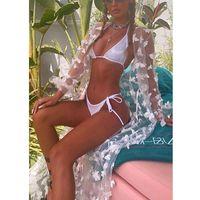 Swimsuit encobrir Sexy Lace Hollow Out Beach Vestido Fashion 2021 Nadar Longo Maxi Vestir Mulheres Verão Boho Swimwear das Mulheres