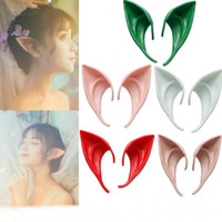 Cosplay Silicone Elves Ear Party Supplies Halloween Soft Artificial Ears 10cm Mask Xmas tools WY346